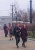 Посадка цветов старшеклассниками с ветеранами